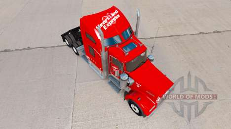 Heartland Express Haut [rot] truck Kenworth für American Truck Simulator