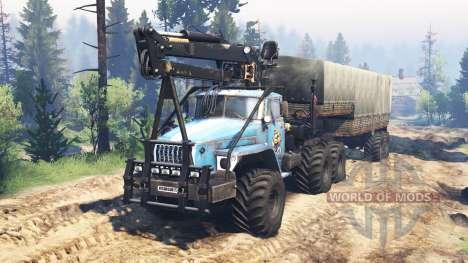Ural-4320-10 10x10 v2.0 pour Spin Tires