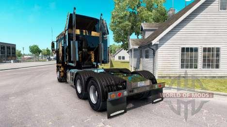 La peau de Jaguar sur le camion Freightliner Arg pour American Truck Simulator