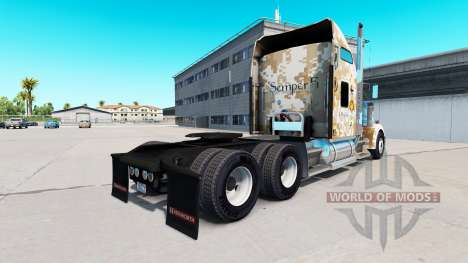 La peau Marines Ingénieurs de Combat de la Kenwo pour American Truck Simulator