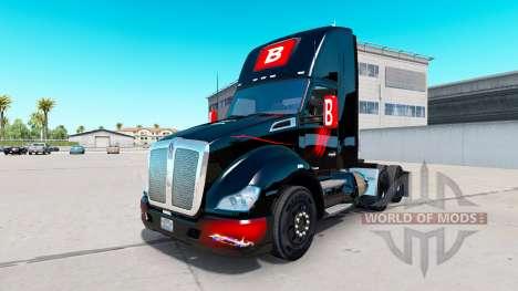 Skin Bitdefender tracteur Kenworth pour American Truck Simulator