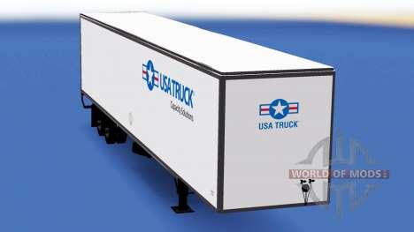 All-Metall-semi-trailer-USA-Truck für American Truck Simulator