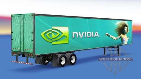 La peau Nvidia GeForce sur la remorque pour American Truck Simulator