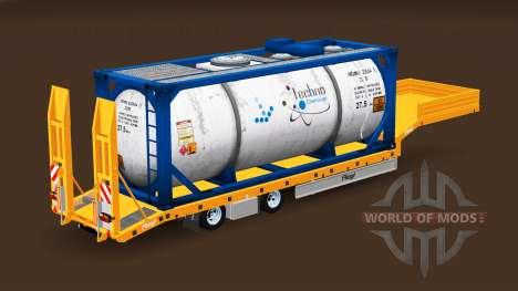 Faible image de chalut Fliegl avec des charges d pour American Truck Simulator