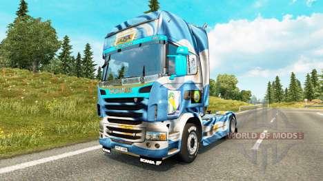 L'Argentine Copa 2014 de la peau pour Scania cam pour Euro Truck Simulator 2