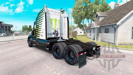 Die Monster Energy Falken-skin für den truck Pet für American Truck Simulator