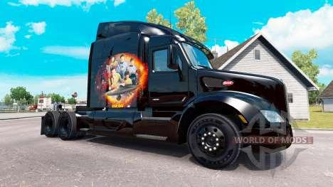 Star Trek la peau pour le camion Peterbilt pour American Truck Simulator