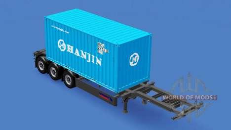 Semi-remorque avec 20 livres de conteneur v2.0 pour American Truck Simulator