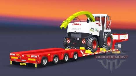Tiefbett Schleppnetz-Puppe mit der Belastung des für Euro Truck Simulator 2