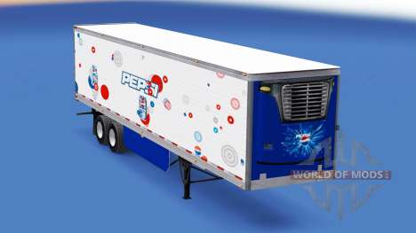Pepsi Haut für den Kühlanhänger für American Truck Simulator