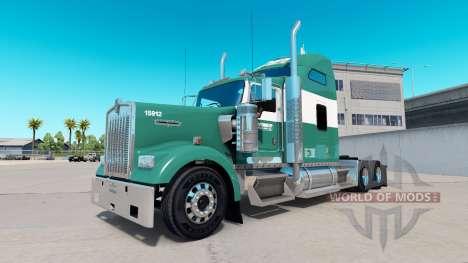 La peau Reimer Express Lines sur le camion Kenwo pour American Truck Simulator