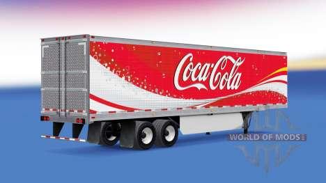 La peau de Coca-Cola frigorifique semi-remorque pour American Truck Simulator