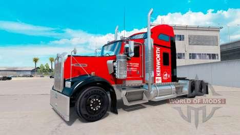 La peau sur le Sud-est de camion Kenworth W900 pour American Truck Simulator