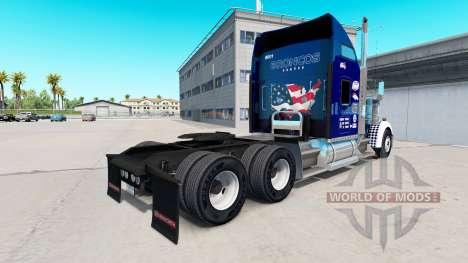 Haut-Onkel D-Logistik auf LKW-Kenworth W900 für American Truck Simulator