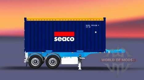 Semi-remorque avec 20 livres conteneur pour Euro Truck Simulator 2