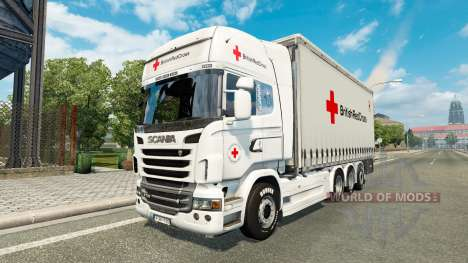 Scania R730 Tandem British Red Cross für Euro Truck Simulator 2