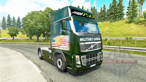 De transport militaire de la peau pour Volvo cam pour Euro Truck Simulator 2
