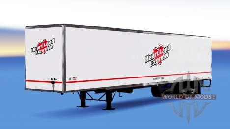 De tous les métaux semi-Heartland Express pour American Truck Simulator