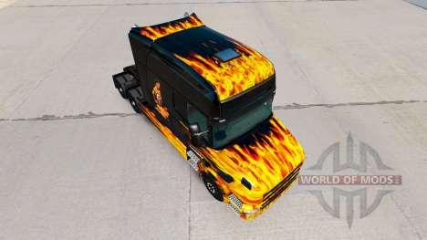 Haut Hot Ride auf Traktor Scania T für American Truck Simulator