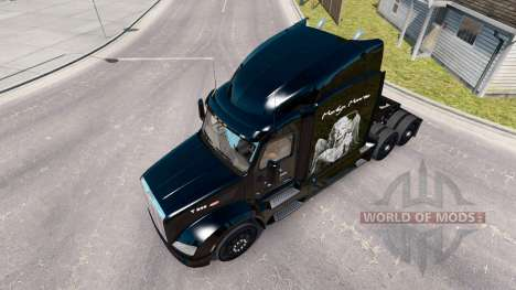 Marilyn Monroe de la peau pour le camion Peterbi pour American Truck Simulator