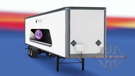 Tous métal-semi-remorque iPhone 6 pour American Truck Simulator