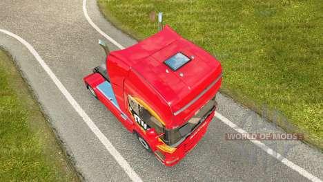 Mezzo Mix de la peau pour Scania camion pour Euro Truck Simulator 2