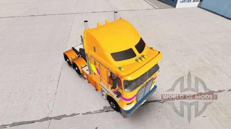 Haut Multicolor Traktor Kenworth K200 für American Truck Simulator