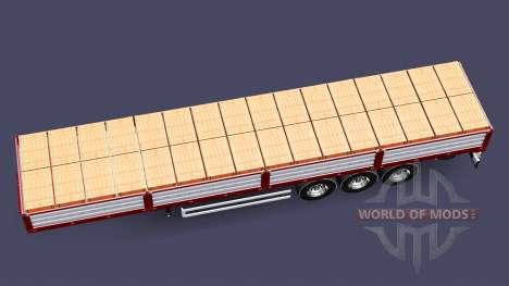 Plateau semi-remorque avec une charge de briques pour Euro Truck Simulator 2
