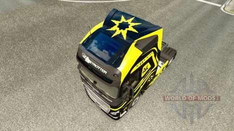 Les peaux Noires Et Jaunes chez Volvo trucks pour Euro Truck Simulator 2