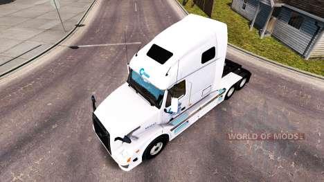 Celadon-skin für den Volvo truck VNL 670 für American Truck Simulator