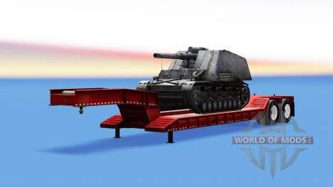 Bas de balayage avec une cargaison de SPG Hummel pour American Truck Simulator