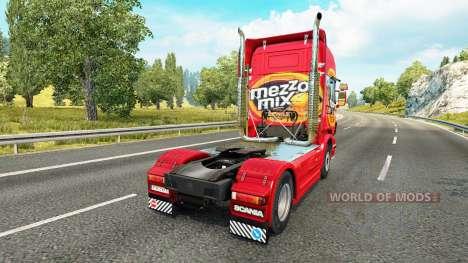 Mezzo Mix skin für den Scania truck für Euro Truck Simulator 2