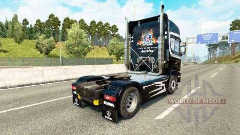 Skin Scania LKW für Zugmaschine Scania für Euro Truck Simulator 2