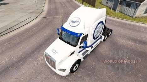 LA Dodgers-skin für den truck Peterbilt für American Truck Simulator