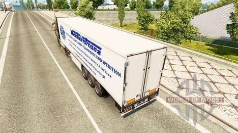 Der Westen-Truck-Trans skin für trailer für Euro Truck Simulator 2