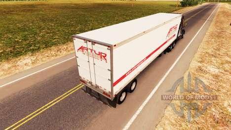 Haut Artur Express auf dem trailer für American Truck Simulator