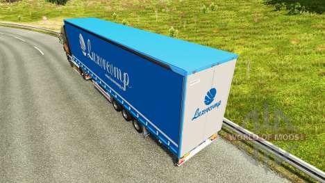 Rideau semi-remorque Luxorcomp pour Euro Truck Simulator 2