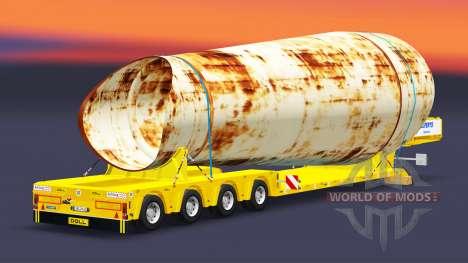 Lit bas au chalut de Poupée avec de fret pour Euro Truck Simulator 2