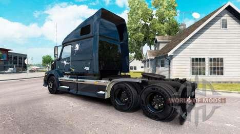 La peau Trans Ouest de tracteur routier Volvo VN pour American Truck Simulator