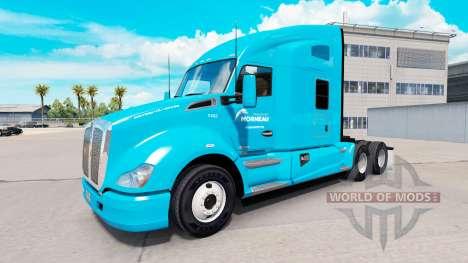 La peau de Transport Morneau sur un tracteur Ken pour American Truck Simulator
