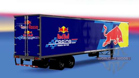 All-Metall-semi-trailer-Red Bull für American Truck Simulator