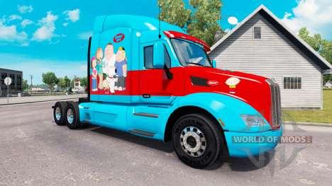 Family Guy peau pour le camion Peterbilt pour American Truck Simulator