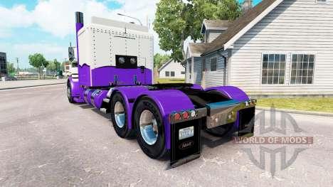 La peau Mauve et Blanc pour le camion Peterbilt  pour American Truck Simulator