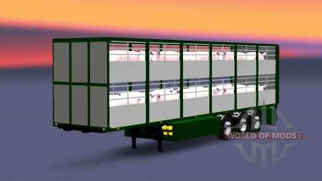 Semi-remorque-bovins transporteur Ferkel Trans pour Euro Truck Simulator 2