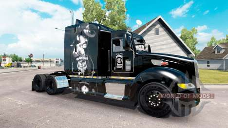 Motorhead peau pour le camion Peterbilt 386 pour American Truck Simulator