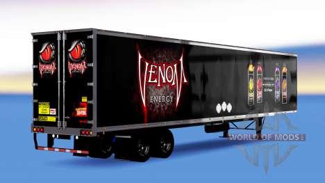 Tous métal-semi-remorque Venin de l'Énergie pour American Truck Simulator
