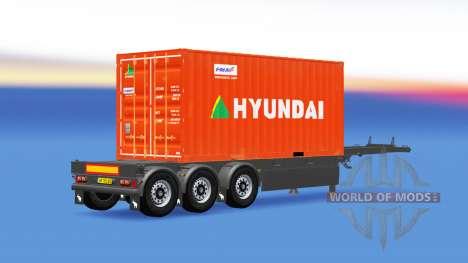 Semi-remorque avec 20 livres conteneur pour American Truck Simulator