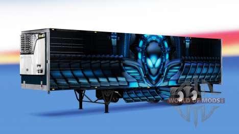 La peau Alienware par frigorifique semi-remorque pour American Truck Simulator