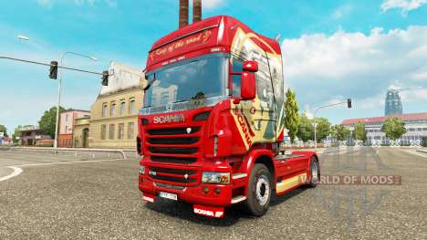 Haut King of the Road auf der Zugmaschine Scania für Euro Truck Simulator 2