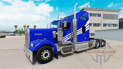 Haut Weiße Schloss an der LKW-Kenworth W900 für American Truck Simulator